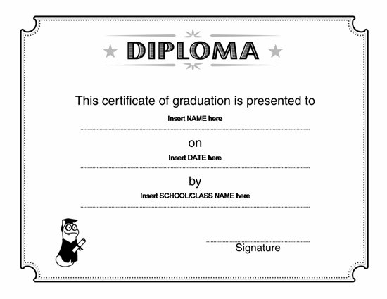 Diploma Free Certificate Templates In Academic Award – Free Certificate of Completion Templates for Word