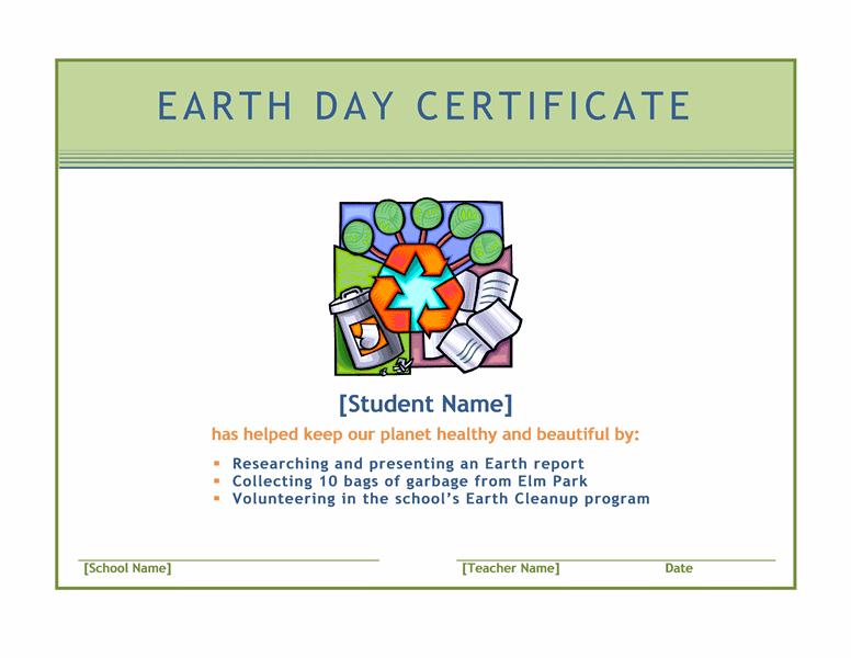 Earth Twenty-four Hours Certificate