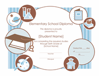Elementary School Diploma Certificate Template