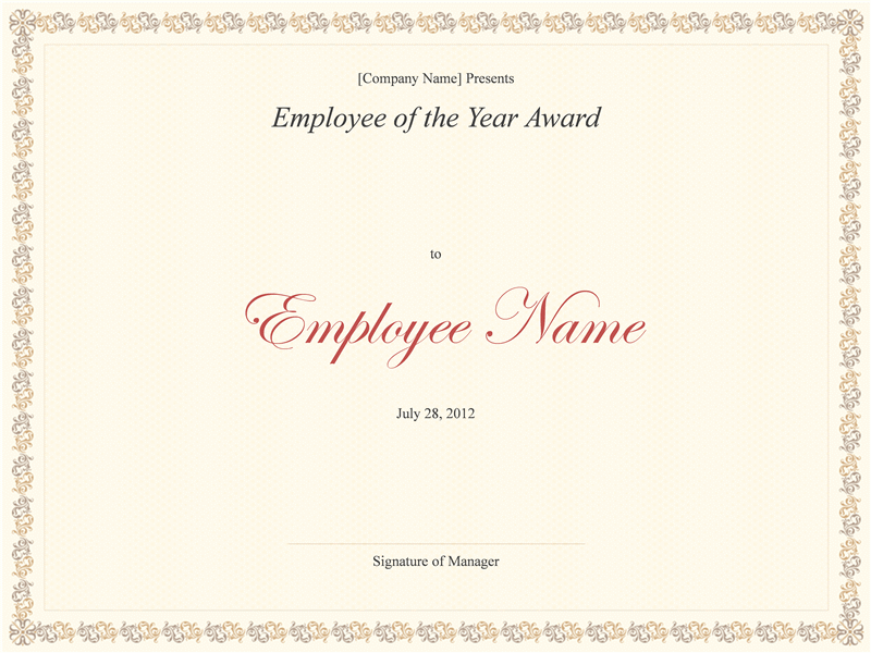 Employee of the year award free certificate templates in business employee of the year award free certificate templates in business award certificates category yadclub Choice Image