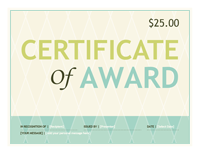 Endowment Certificate Award (buffoon Designing)