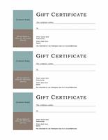 Endowment Certificate (no Boundary Line, 3-up)
