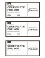 Endowment Certificates (bleak &ampereereereere; Snowy, 3 Per Page)