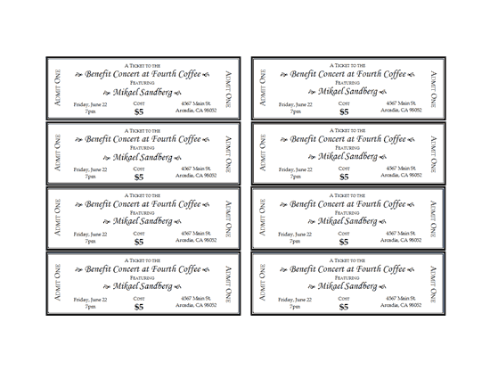 Event tickets free certificate templates in tickets for Sports ticket template free download