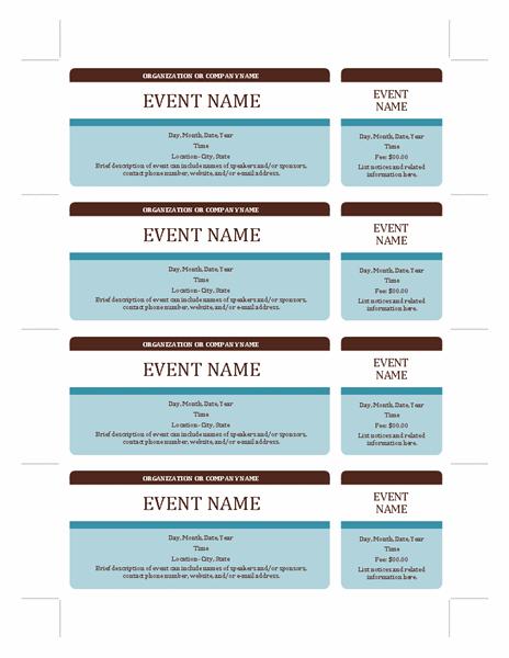 microsoft ticket template printable .
