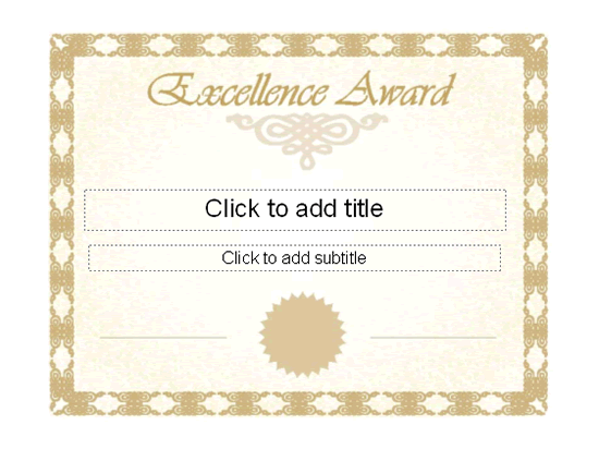 Excellence award certificate free certificate templates in excellence award certificate flashek Gallery