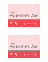 Gift Certificate For Valentine With 2 Certificates Per Page