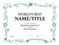 Global's Better Awarding Certificate