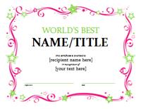 Global's Better Certificate