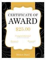 Gold Gift Certificate Template Word Free
