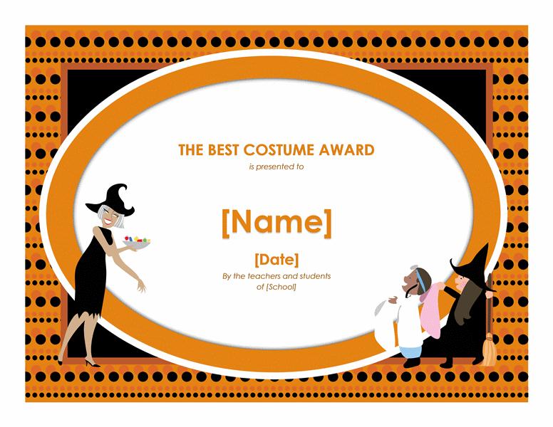 Halloween Better Attire Awarding Free Certificate Templates In