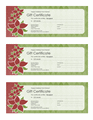 Holiday Gift Certificate (poinsettia...