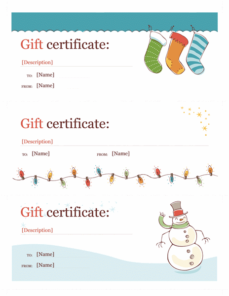 Holiday gift certificate template word christmas free certificate templates in gift for Holiday gift certificate templates