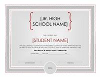 Jr. Eminent Schoolhousehouse Sheepskin Certificate