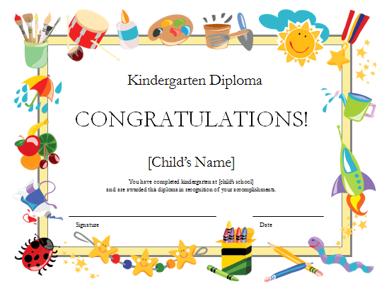 Diploma preschool diploma template for Diplomas and certificates templates