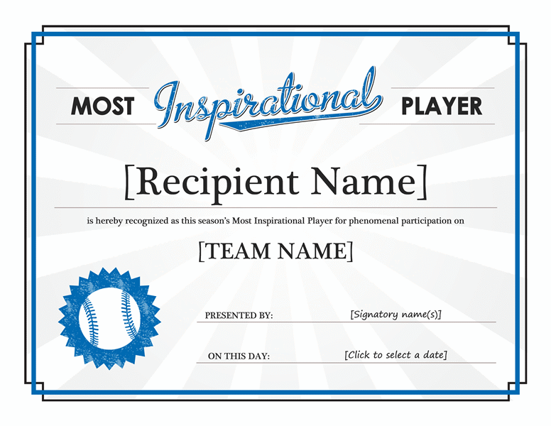 award template microsoft word