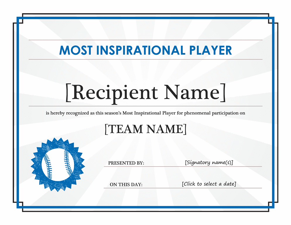 free award certificate templates for word