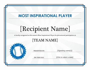 Most Sacred Participant Award Certificate (editable Statute Title)