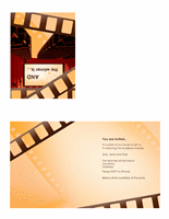 Movie Awards Party Invitation (quarter-fold)
