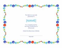 Preschool Completion Certificate