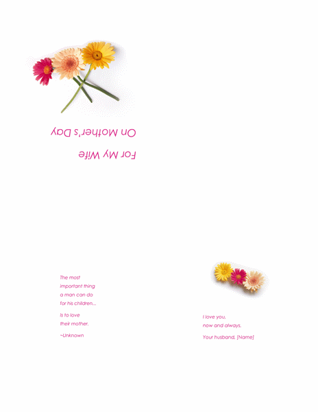 Printable Free Mothers Day Cards For Wife