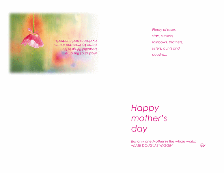 Printable Happy Mothers Day Cards