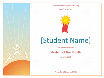 Pupil Of The Calendar Month Awarding (simple)