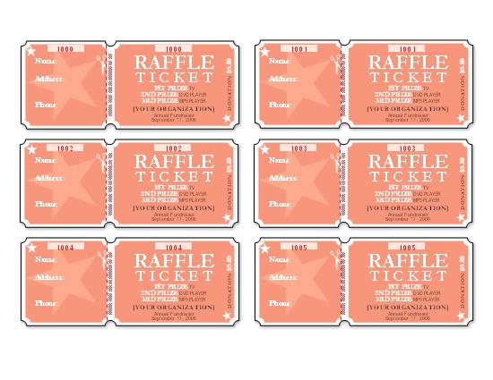 sample of raffle ticket design