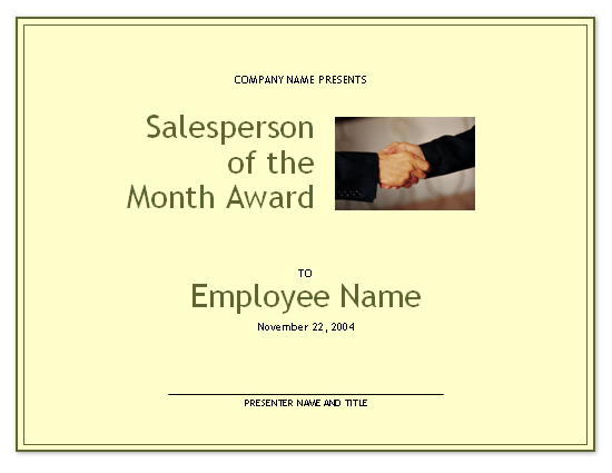 Salesperson of the month award free certificate templates in salesperson of the month award free certificate templates in business award certificates category cheaphphosting Images