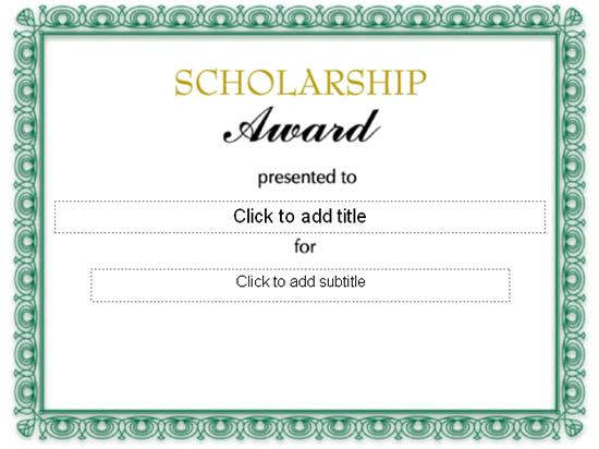 Scholarship Award Certificate Free Certificate Templates In – Academic Certificate Templates Free