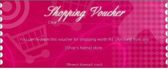 shopping gift voucher