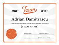 Squad Tone Awarding Certificate