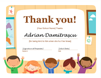 Thank You Certificate