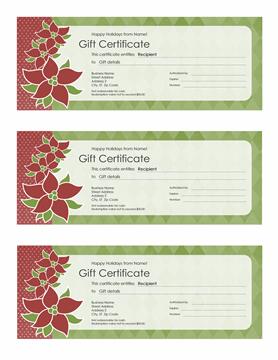 Vacation Endowment Certificate (christmas Star Designinginging, 3 Per...
