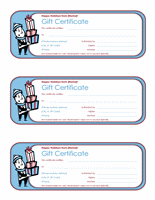 Vacation Endowment Certificates (3 Per Page)