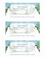 Vacation Endowment Certificates (vacation Figure Designinginging, 3...