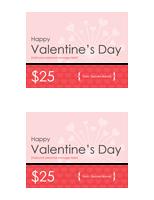 Valentine Endowment Certificates (2 Per Page)