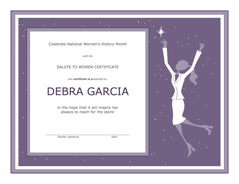 Womens history month certificate free certificate templates in womens history month certificate yadclub Image collections