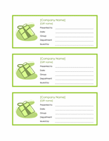 Worker Endowment Certificates (3 Per Page)