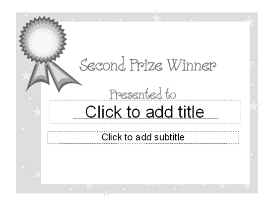 2nd choice awarding certificate free certificate for First prize certificate template