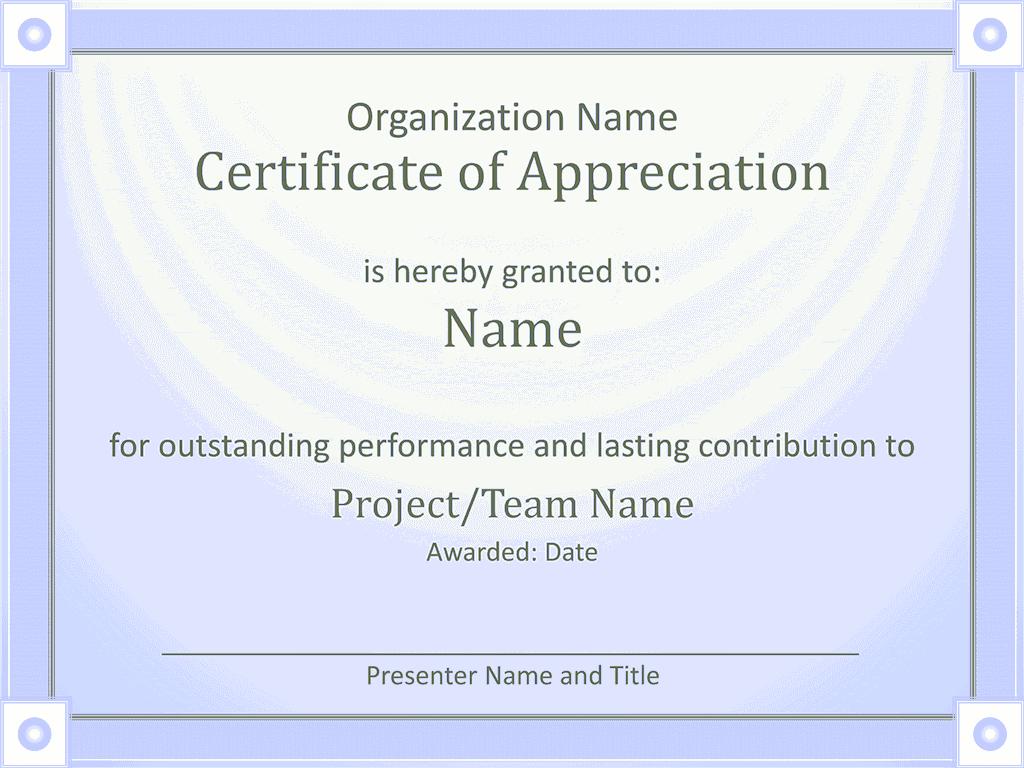 Acknowledge Prominent Public Presentation Certificate Of Grasp Blue