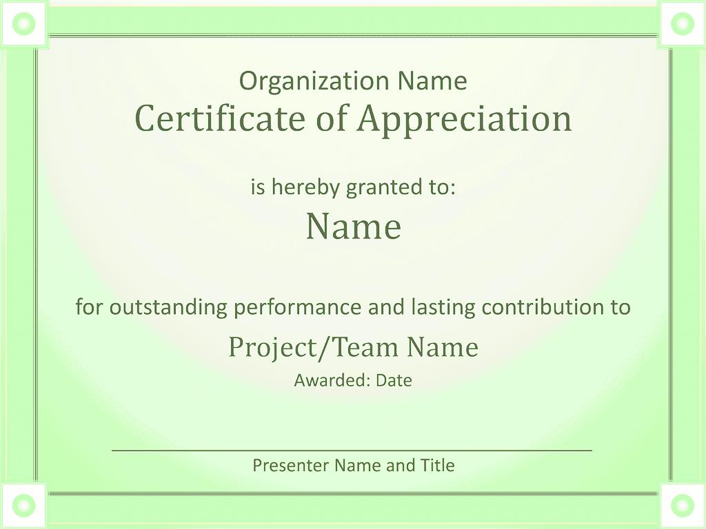 Acknowledge Prominent Public Presentation Certificate Of Grasp Green