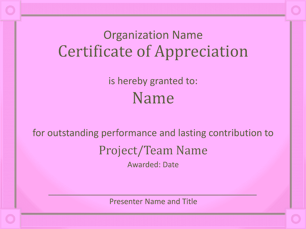 Acknowledge Prominent Public Presentation Certificate Of Grasp Purple