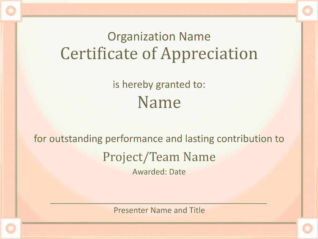 Acknowledge Prominent Public Presentation Certificate Of Grasp Red