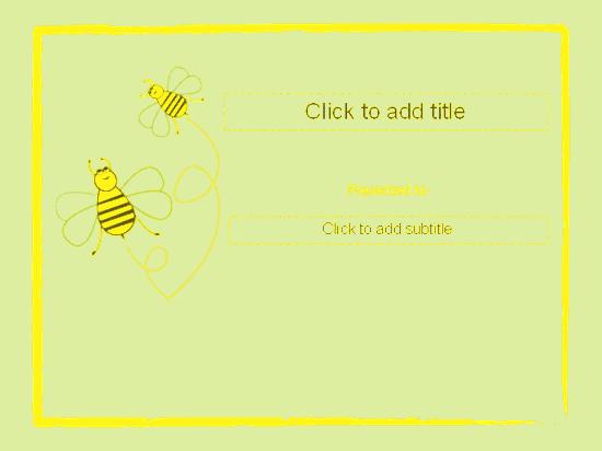 Awarding Certificate (bumble Designing) Yellow