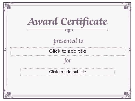 Awarding Certificate (conventional Designing) Blue