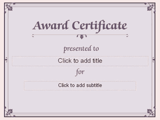 Awarding Certificate conventional Designing Free Certificate – Template for Award Certificates