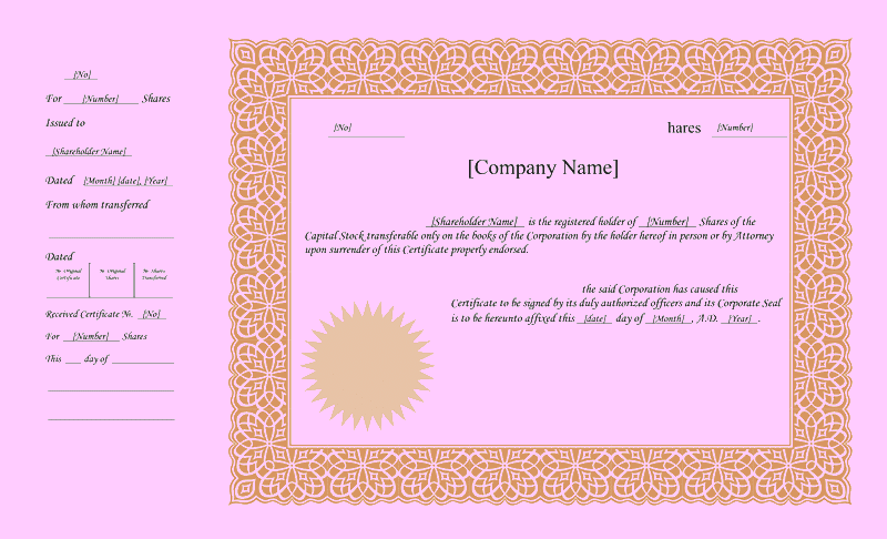 Download appearance free certificate templates for ms office for Certificate of appearance template