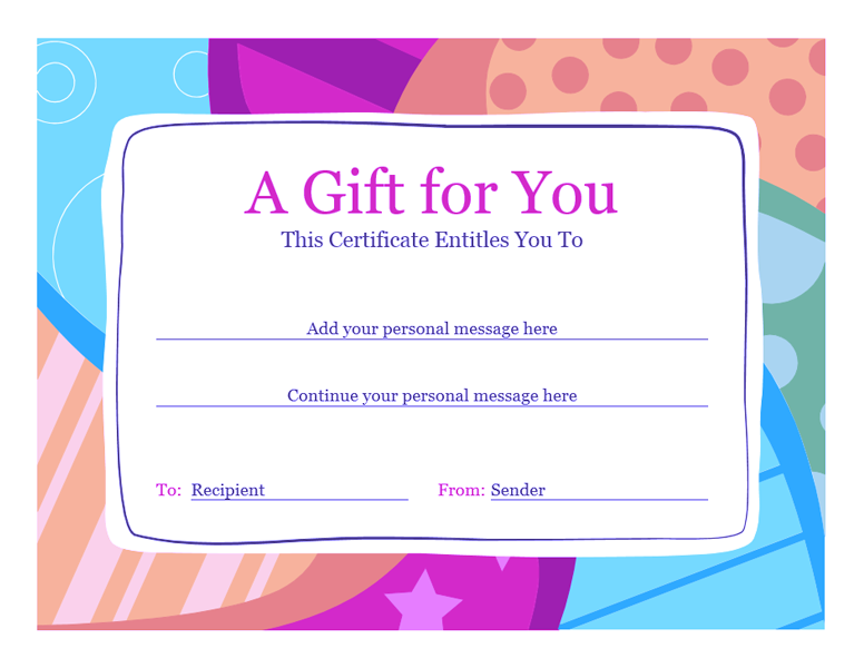 download birthday gift certificate template word 2010 02
