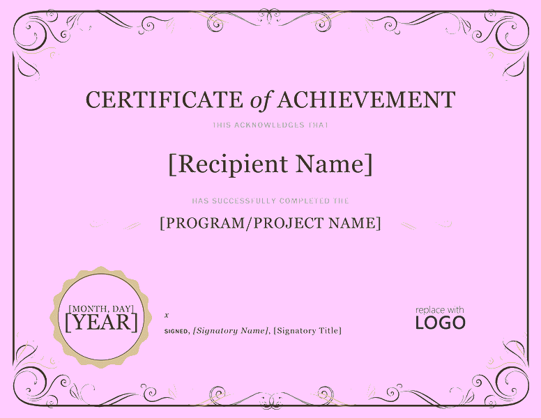 download certificate of accomplishment free certificate